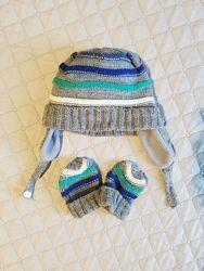 Набор шапочка и рукавички Mothercare