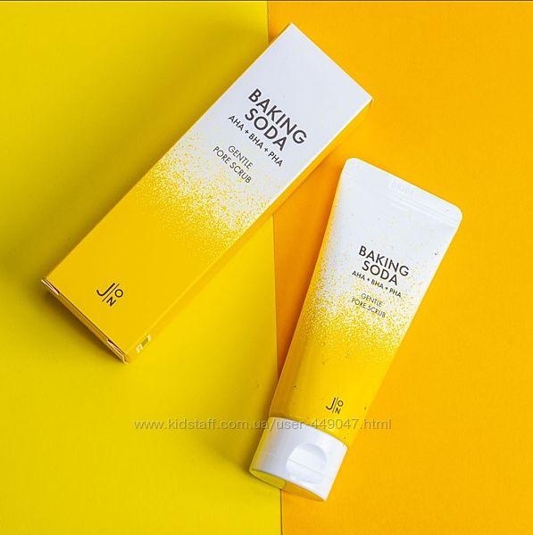 Содовый скраб для лица с 3 типами кислот JON Baking Soda Gentle Pore Scrub
