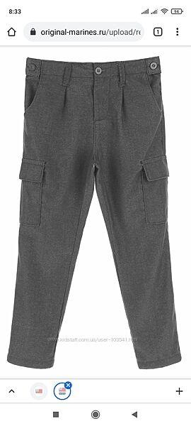 Новые серые брюки ORIGINAL MARINES, Италия, р. 164, 13-14 лет