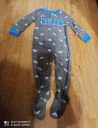 Флисовая пижама. Слип carter&acutes
