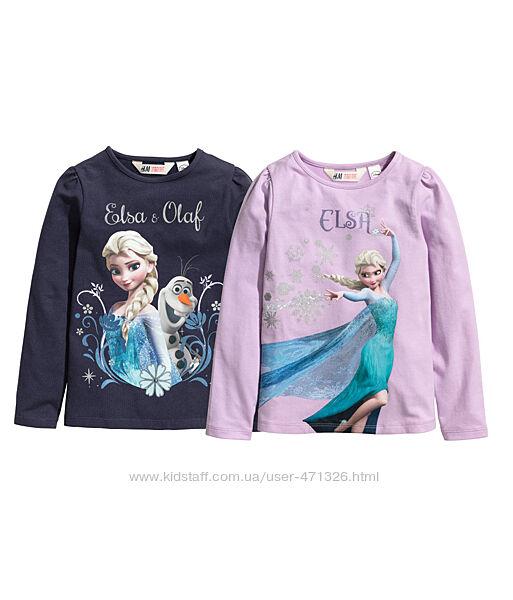 лонгслив с Frozen Disney c cайта H&M. размер 110-116 или 4-6 лет