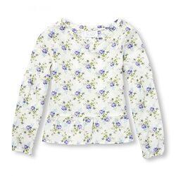 легкая тонкая хлопковая блузка Children&acutes Place. р. 7-8 лет
