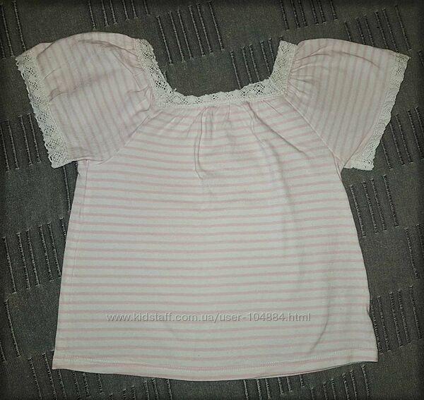 Стильная футболка в полоску Crazy8, 104-116 см, идеальное состояние