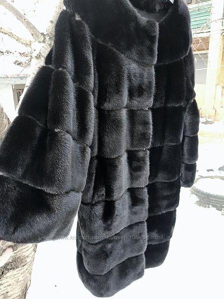 LuxxНовая норковая шуба мех KOPENHAGEN. Мех полный аналог Blackglama.