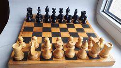 Деревянные шахматы времён СССР