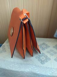 Новая рыжая сумка планшетка, кроссбоди.