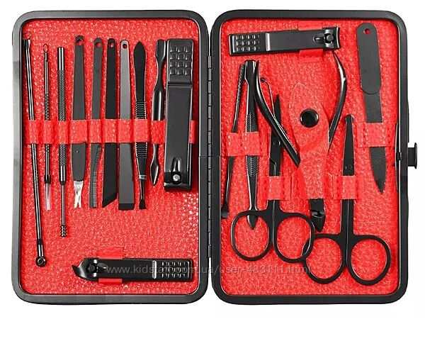 Маникюрный набор 18 в 1 для маникюра педикюра ухода за ногтями, 2 шт ножниц