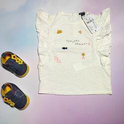 Молочная футболка kiabi