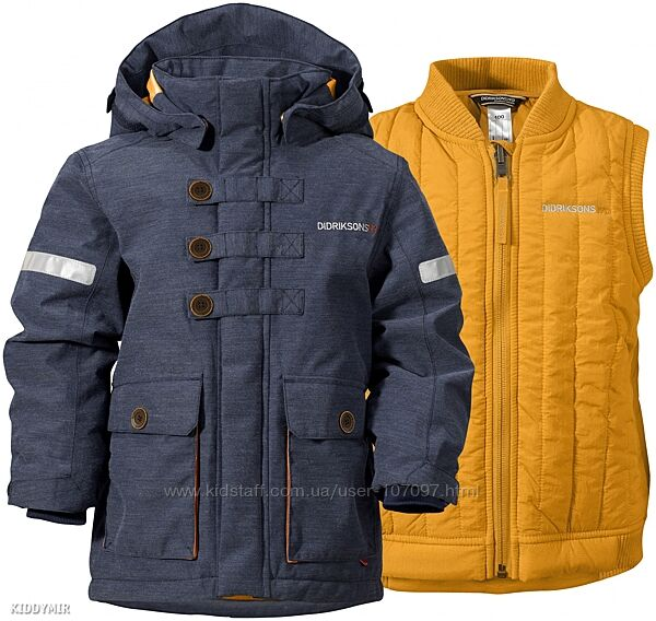 Didriksons ogin зимняя куртка 3-в-1