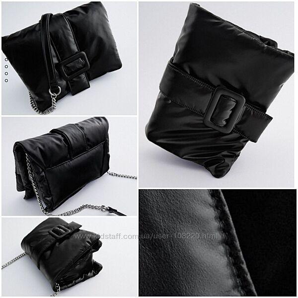 Эффектный и функциональный клатч Zara из эко-кожи на цепочке