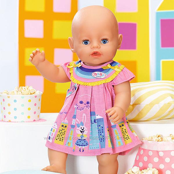Одежда для куклы BABY born - Милое платье розовое