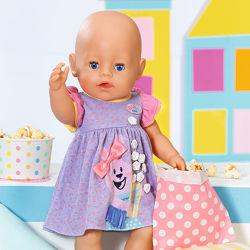 Одежда для куклы BABY born - Милое платье фиолетовое