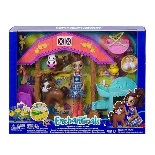 Набор Enchantimals Звериная ферма Детский садик для зверушек