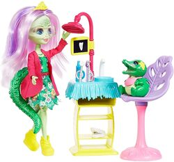 Кукла Enchantimals Стоматолог Энди Аллигатор Dentist крокодил