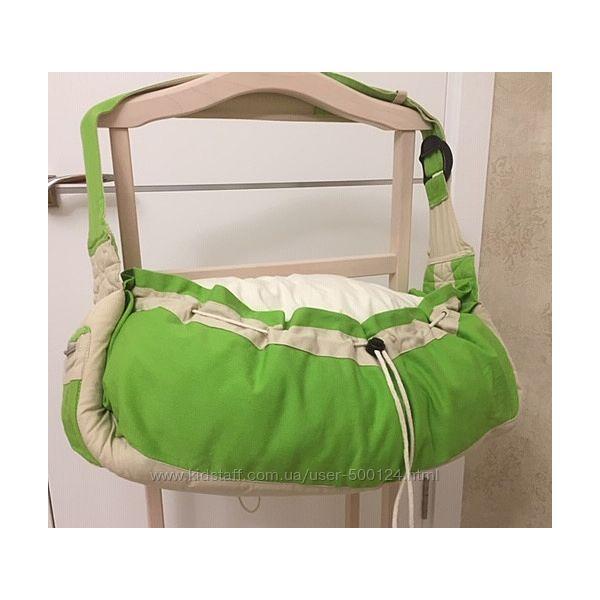 Сумка-слинг, переноска для новорожденных. Мягкая сумка выполнена из котона