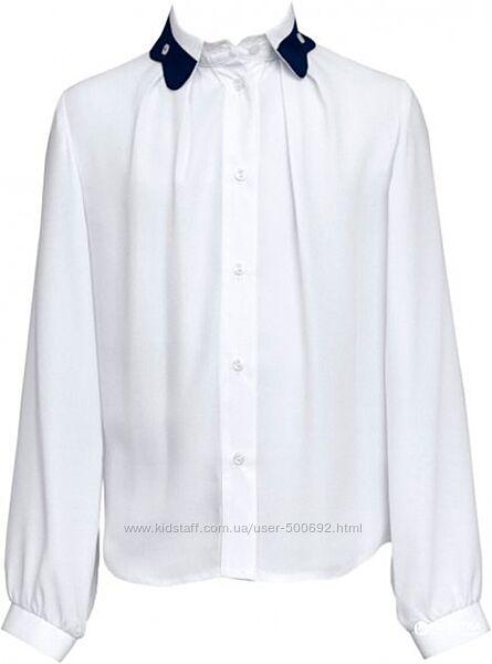 Блуза SLY школьная рост 134 см Белая