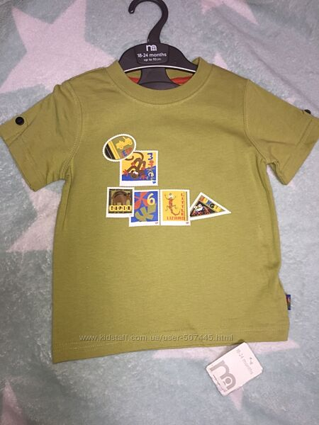 Новая футболочка Мothercare 24м.