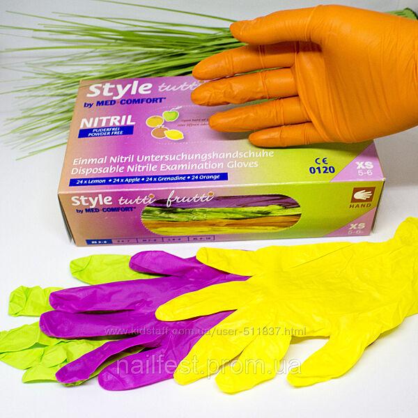 Кольорові нітрилові рукавички S M