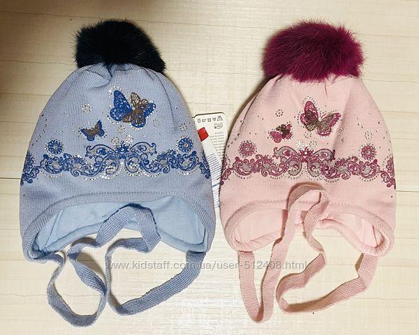 Распродажа зимние шапки, девочка р 36-57, Украина, Польша.