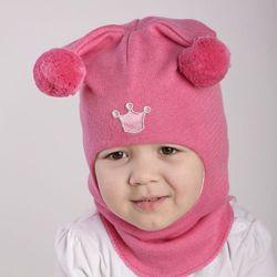 Шапка шлем ТМ Beezy весна-осень для девочек