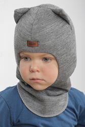 Шапка детская. Зимняя шапка шлем для мальчиков Beezy.