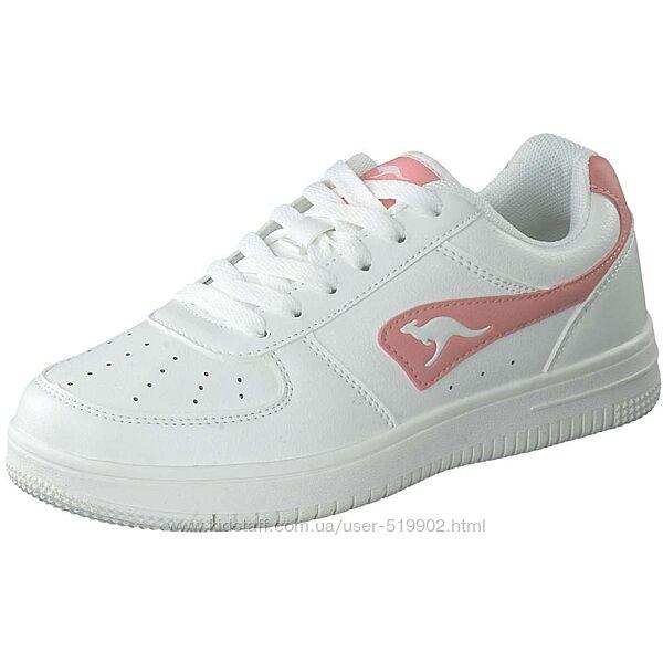 Стильные кроссовки белые для девочки KangaRoos