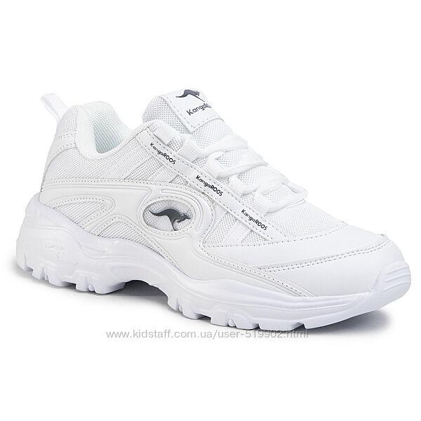 Легкие кроссовки белые для девочки KangaRoos