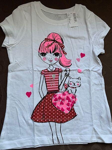 Новая футболка Children Place для модницы 10-12 лет
