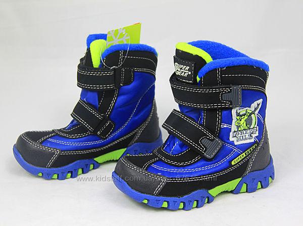 Зимние термо ботинки для мальчиков Super Gear размеры 22-27
