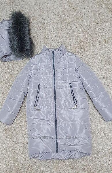 Куртка зимняя, 134 р. Очень хорошее сост.