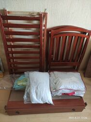 Комплект Детская кровать Верес Матрас Постельное Защита МобильКоврикХипсит