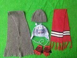 Деми наборы теплые шапки, шарфы CHICCO на 1,5-3 года