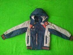 Фирменная деми куртка с флисом на рост 116-122-128 см 6-8 лет