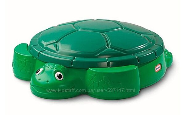 Детская песочница с крышкой Черепаха Little Tikes 631566 для детей