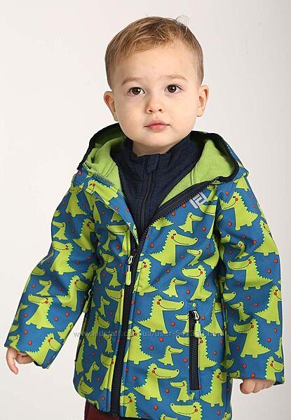 Демисезонная термо куртка softshell р.104-110 Крокодил PIDILIDI