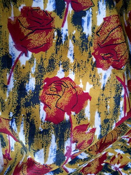 Отрез ткани байка ткань фланель розы СССР