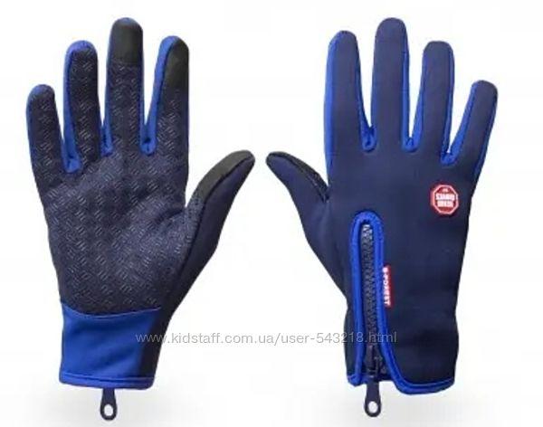 Горнолыжные перчатки уни SOFTSHELL FREEVER GF 602 СИНИЕ