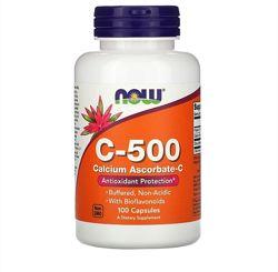 Now Foods, витамин C 500, 100 шт