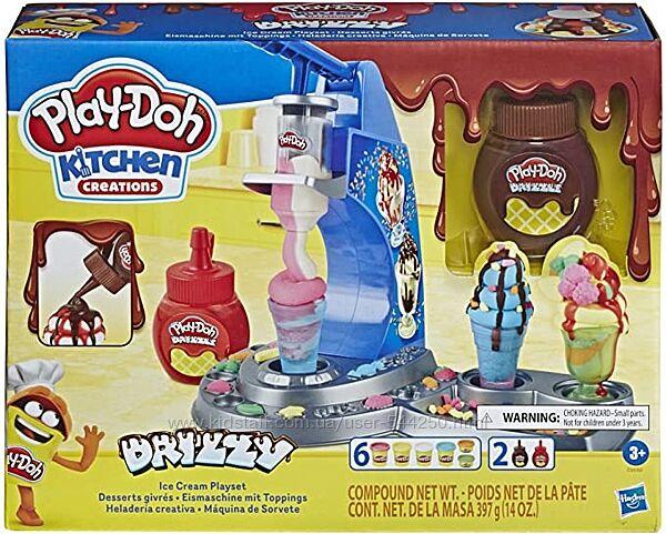 Набор для лепки Play-Doh Kitchen Creations Drizzy Ice Cream Мороженное