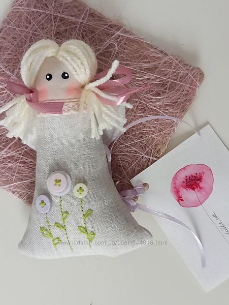 Ароматические саше Ангелочки с натуральной лавандой. Ручная вышивка.
