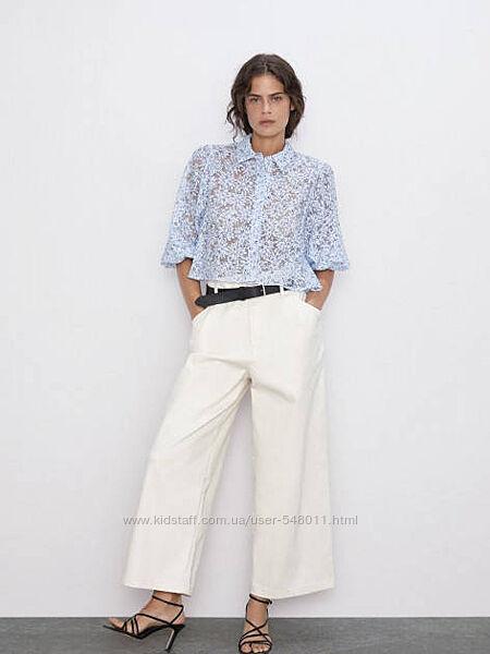 Воздушная блуза с цветочным принтом Zara, M