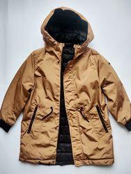 2-сторонняя длинная куртка парка Zara 128-152 новая