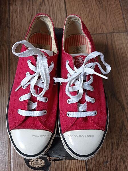 кеды Dunlop 34 и 35-36 р - 21,5 и 22,5 см по стельке черные и красные