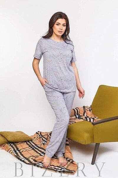 Женская пижама для сна с принтом В598-600