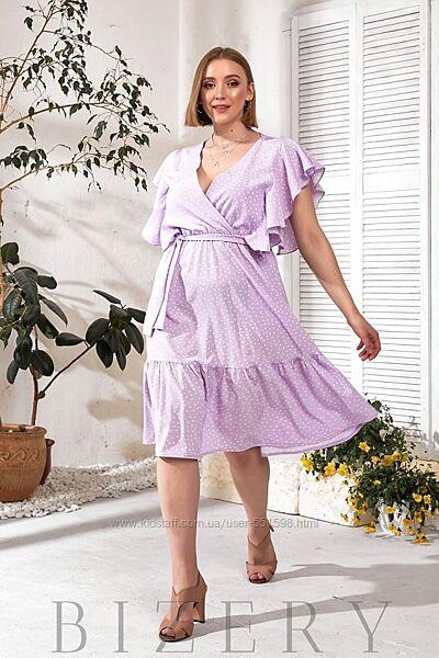 Летнее  платье с воланами В749-751