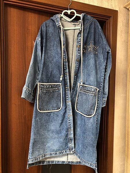Продам джинсовое пальто