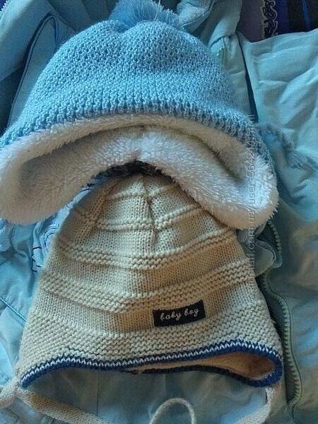 Шапка зимняя демисезонная для малышей