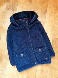Debenhams Синяя деми куртка удлиненная стеганая тонкий синтепон 5-6 лет