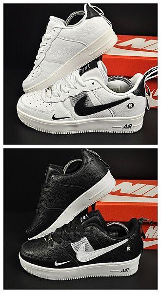 Женские кроссовки Nike Air Force 1 р. 37-41 белые и черные