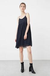 Шифоновое платье с пайетками и красивой спиной сарафан - Mango Оригинал s-m